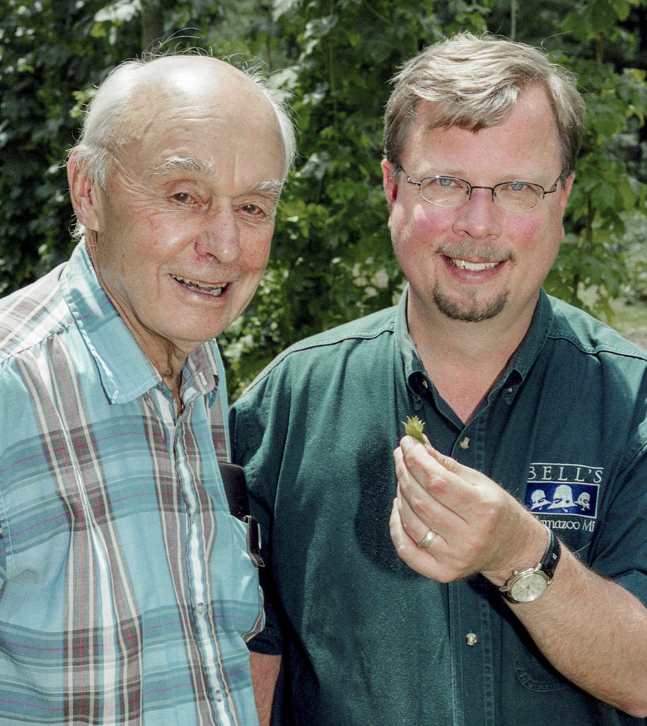 Bell with Paul H. Todd '42 in 2006