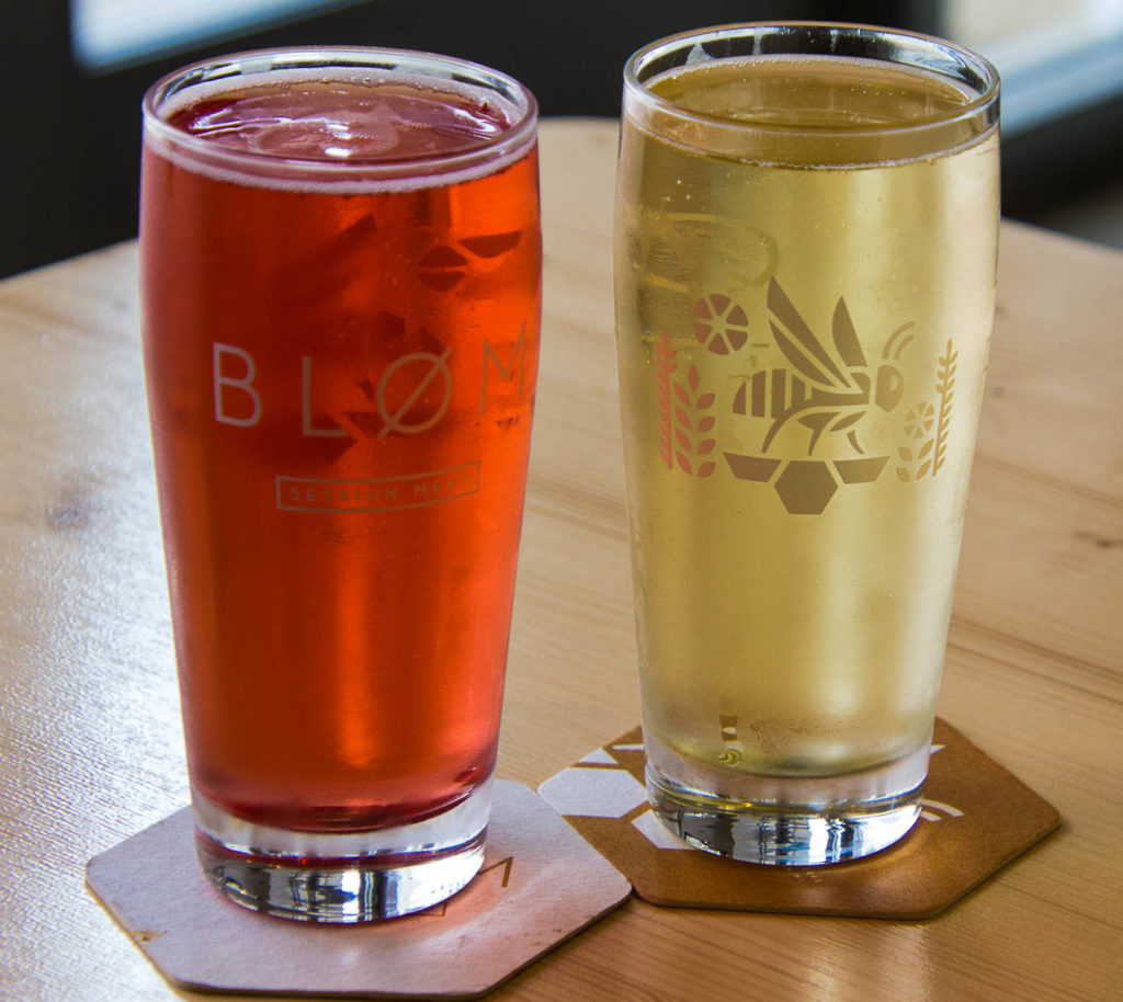 A selection of Blom's thirst-quenching meads and ciders