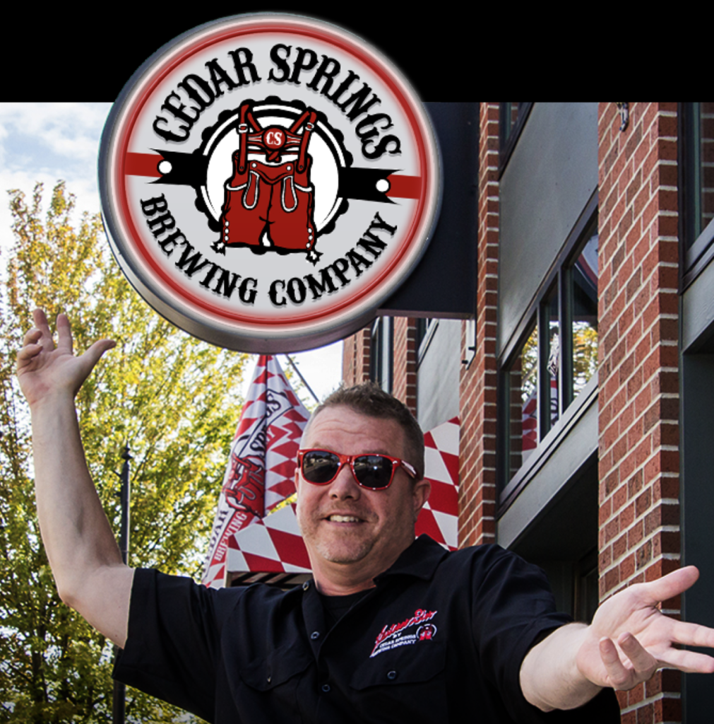 David Ringler 92 is the founder of Cedar Springs Brewing and its resident Director of Happiness