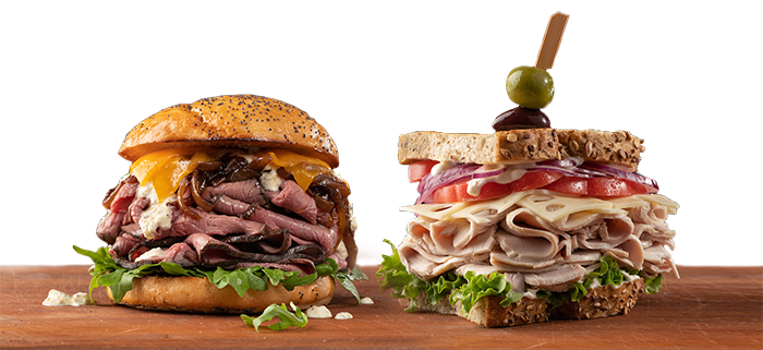 two delicious sandwiches